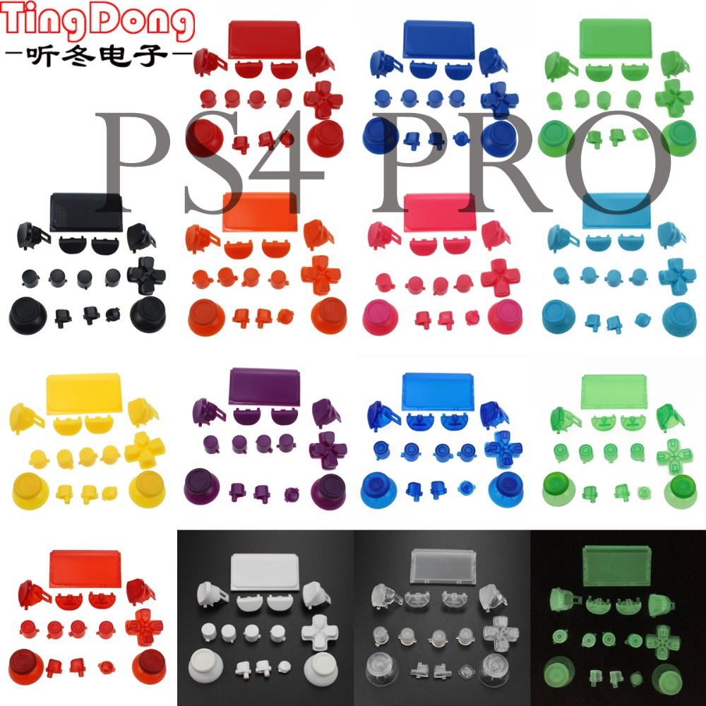 16Colors Optional L1 R1 L2 R2 Trigger Buttons Set Replacement For PS4 Pro Controller For PS4 4.0 JDS 040 JDM 040 Buttons Kit