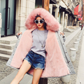 2017 New Women Winter Jacket Coats Thick Parkas Plus Size Fur Collar Hooded Outwear Long Sleeve Parkas Woman Coat