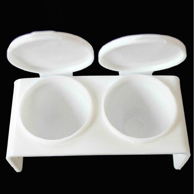 Plato líquido acrílico plástico Dappen plato taza con tapa líquido brillo acrílico polvo uñas pluma lavar Caviar uñas estilismo herramientas