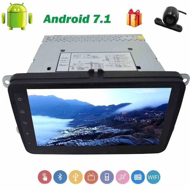 Backup Camera 2 Din Android 7 1 For Volkswagen 4 Core Car Stereo 8