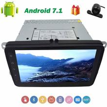 "Backup Camera+2 Din Android 7.1 for Volkswagen 4-Core Car Stereo 8"" GPS Navigation Radio Support WIFI/3G/4G/AV Output/RDS/FM AM"