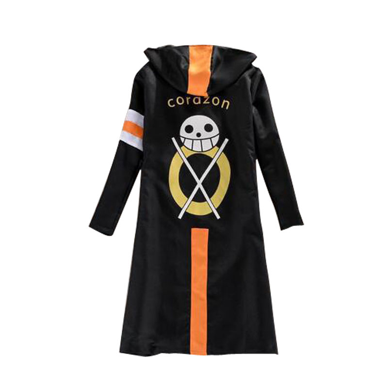 One Piece Costumes Luffy Cosplay Cosplay Cloak Trafalgar Law Cloak Men Costumes Black Overcoat Halloween Cosplay Costume
