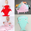 Shark Blanket Cartoon shark sleepingbag Winter Stroller bag Swaddle Wrap Bedding Newborn Infant  Envelope baby cocoon Sleepsack