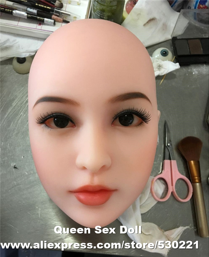 WMDOLL Top quality oral sex doll head with metal skeleton for real silicone sex dolls for man full size sex doll wmdoll top quality silicone sex doll head for real human dolls real doll adult oral sex toy for men