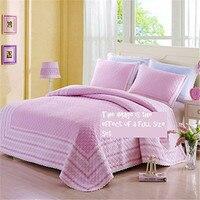 Fadfay 100% хлопок Стёганое одеяло Наборы для ухода за кожей розовый горошек кровать Стёганое одеяло комплект Дети Утешитель набор Твин Полный Р...