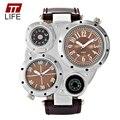 2016 TTLIFE Mens Relógio Marca de Topo de Luxo Multi Mostradores Decoração Relogio masculino relógio Grande Mostrador do Relógio Aparência Elegante Para O Menino