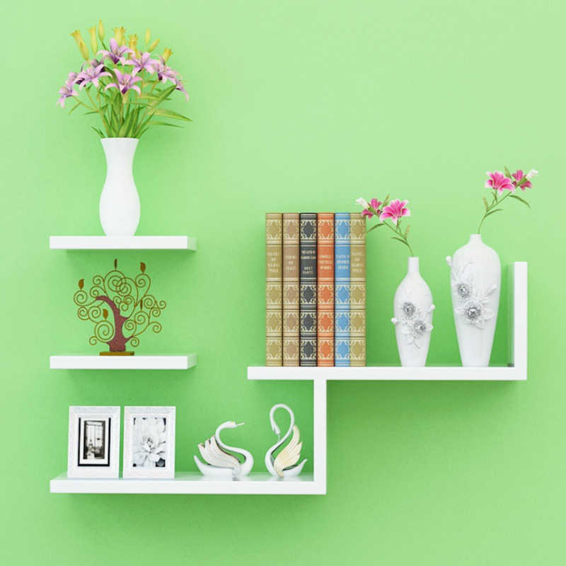 15%,Modern Wall-Mount Book Shelf Wall bookshelf bookshelves Bookcase Storage supporter commodity shelf
