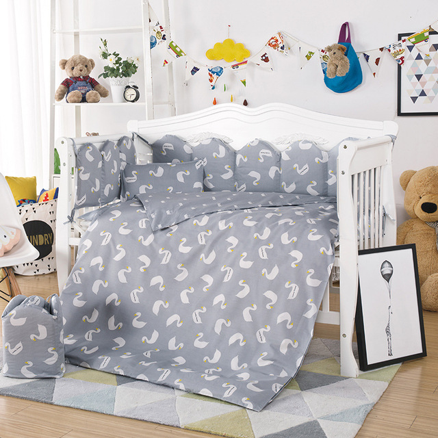 New Arrived Hot Baby Crib Bedding Set 10pcs/Set Include Pillow Case+Bed Mattress+Quilt Cover With Filling