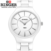 Switzerland Binger ceramic quartz watch women fashion lovers style luxury brand Wristwatches Water Resistant B8006