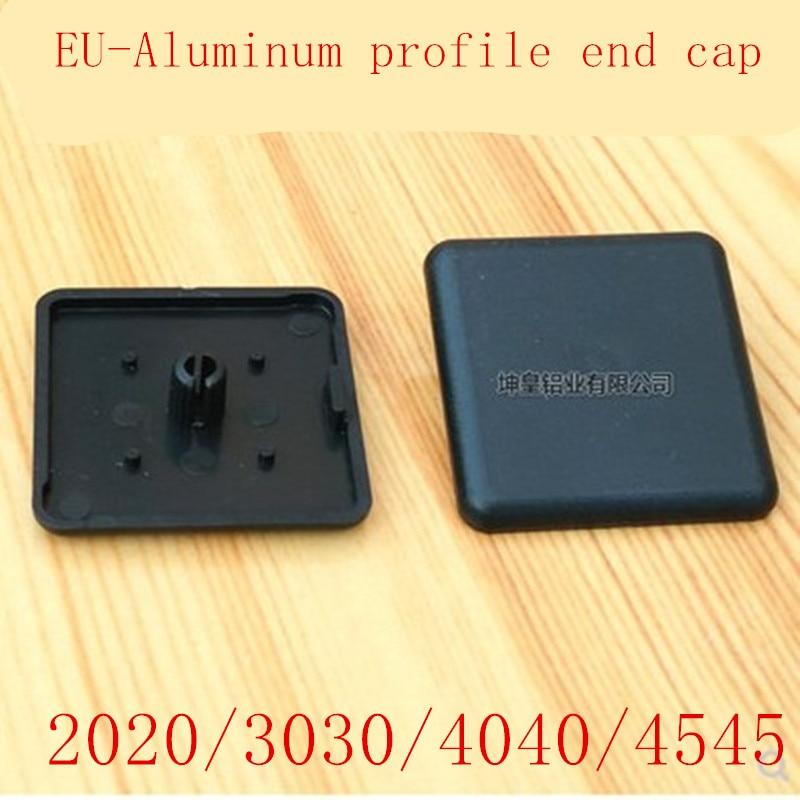 10pcs ALuminum Profile End Cap 2020 3030 4040 4545 Plastic End Cap Cover Plate Black For EU Aluminum Profile
