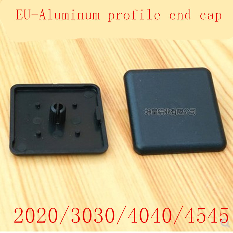 10pcs ALuminum profile end cap 2020 <font><b>3030</b></font> 4040 4545 Plastic End Cap Cover Plate black for EU Aluminum Profile image