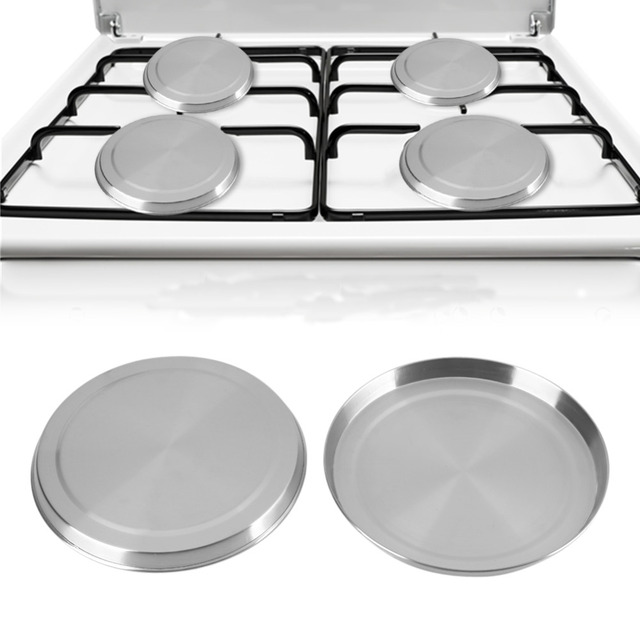 4pcs Set Stainless Steel Stove Top Cover Kitchen Cooking Tools Burner Covers Cooker Protection