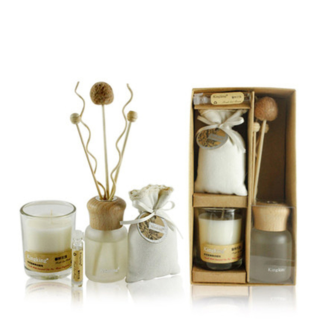 Bougie Huile Essentielle Maison aromathérapie huile essentielle vert bougie ensemble accessoires