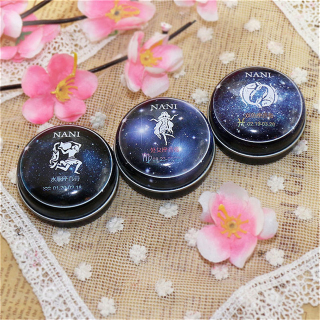 12 Signs Constellation Zodiac Magic Solid Deodorant Solid Fragrance For Women Men High Quality