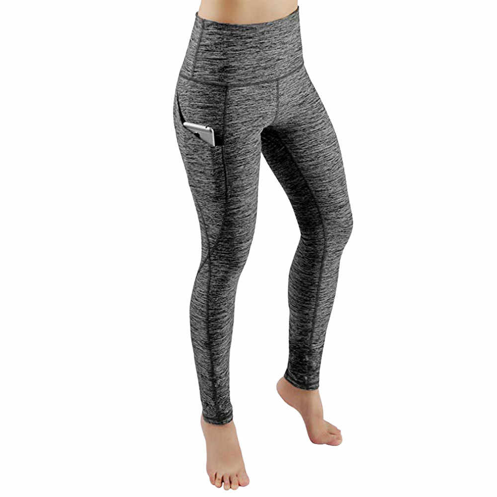 Nieuwe Sexy Training Vrouwen Sport Yoga Broek Leggings Pocket Gym Fitness Workout Running Tights Vrouwen Sport Leggings #0709