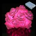 Tanbaby 20 LED Rose LED Da Bateria Luz Da Corda 2 M Natal Twinkle Flor Rosa luz da decoração para o Dia Dos Namorados Ano Novo férias