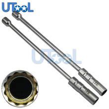 14 Or 16mm Magnetic Thin Wall Universal Joint Spark Plug Socket Removal Tool 12pt
