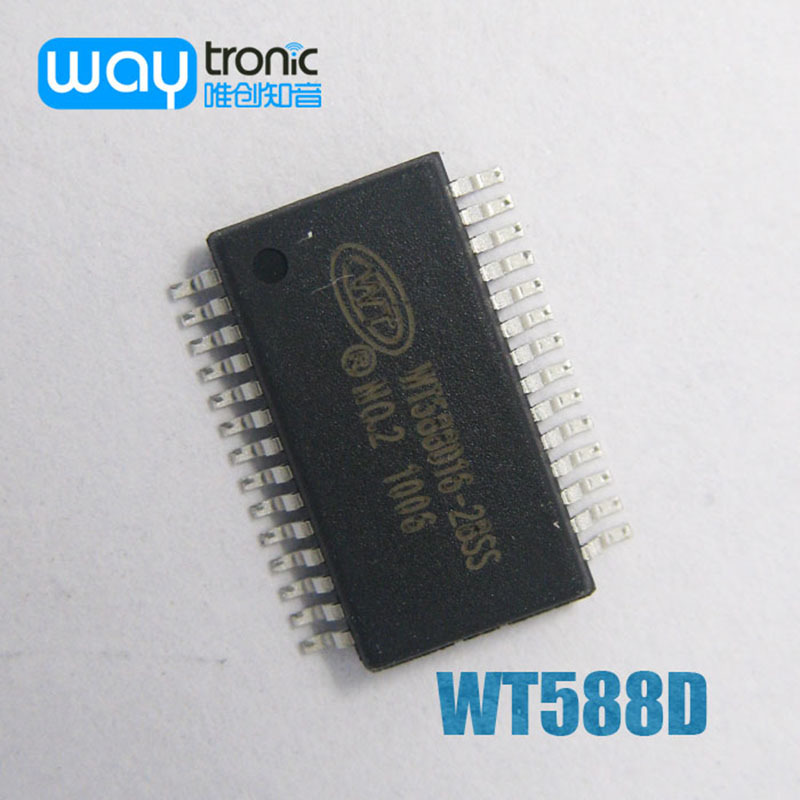 US $45 99 |Free Shipping 10PCS WT588D16 28SS voice record recording chip (  repeatedly erased ) high quality-in Integrated Circuits from Electronic