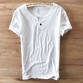 One buckle design Short Sleeve Round Collar Cotton t shirt men casual brand clothing men t shirt breathable tshirt mens Camiseta
