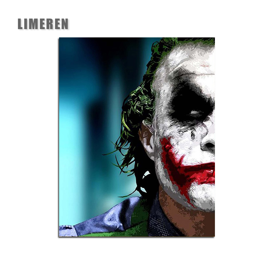US $6 51 OFF Joker Modular Coloring By Numbers The Wall Unframed DIY Oil Drawing Painting By Numbers For Unique Gift Painting &