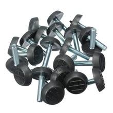 (حزمة من 100 قطعة) 23 مللي متر قابل للتعديل المسمار التسوية القدم الخيوط الإنزلاق قدم ل كرسي منزلي الجدول M6