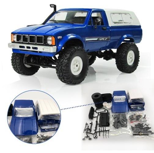 WPL C24 coche RC 1:16 4WD Radio Control de carretera Mini coche Rock eléctrico Buggy máquina de movimiento de RC KIT de coches actualización coche regalo