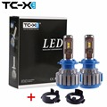 TC-X For Kia Headlights Bulb H7 LED Conversion Kits with Adapter for Kia K3 New Carens Rio2017  S8 SONATA All in One Car Lamp