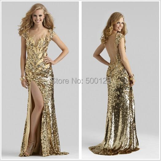 f984e600cb10 Vestito dorato lungo – Modelli alla moda di abiti 2018