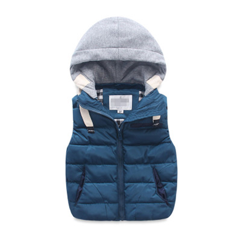 Kids Vest Jacket Coats Hoodies Autumn Baby-Girls Boys Winter Warm Outerwear Thicken