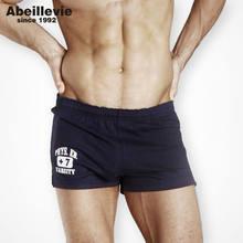 Clássico dos homens do Algodão Shorts Moda Conforto Macio Homewear para Homens  homens Sexy Troncos Calções 5b07833d1251a
