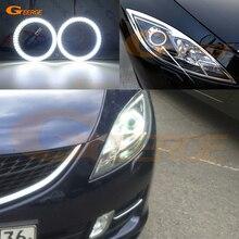 Для mazda 6 Mazda6 MK2 2008 2009 2010 2011 2012 Ruiyi smd комплект светодиодов «глаза ангела» Дневной светильник отлично Ультра яркое освещение DRL