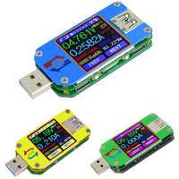 UM34/UM34C UM24/UM24C UM25/UM25C DC amperimetro voltimetro probador de voltaje de corriente tensión de carga de la batería USB