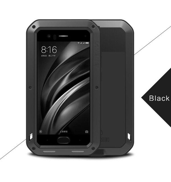 newest 56b9a 27cbd Aluminum Waterproof Case for Xiaomi Mi 6 Original Cover For Xiaomi ...