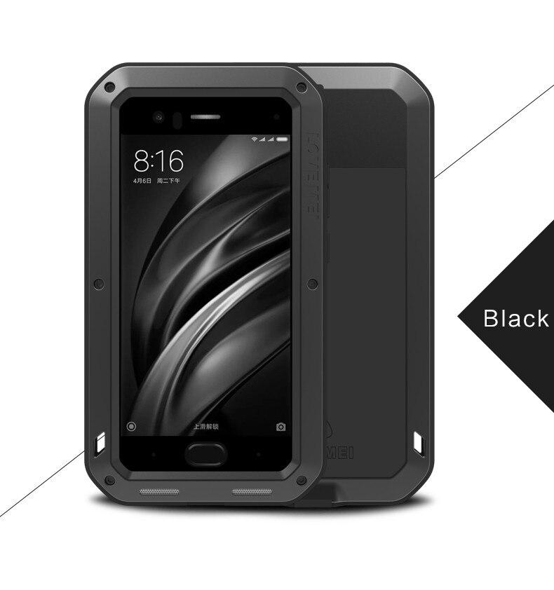 En aluminium Boîtier Étanche pour Xiaomi Mi 6 Couverture Originale Pour Xiaomi Mi 6 Cas Marque De Luxe Antichoc Protection Pour Le Mi6 cas