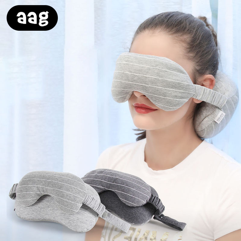 AAG Multi function Travel Eye Pillow Portable Foam Particles Flight Car Office Travel Nap Neck Head Support Eye Mask Pillow in Decorative Pillows from Home Garden