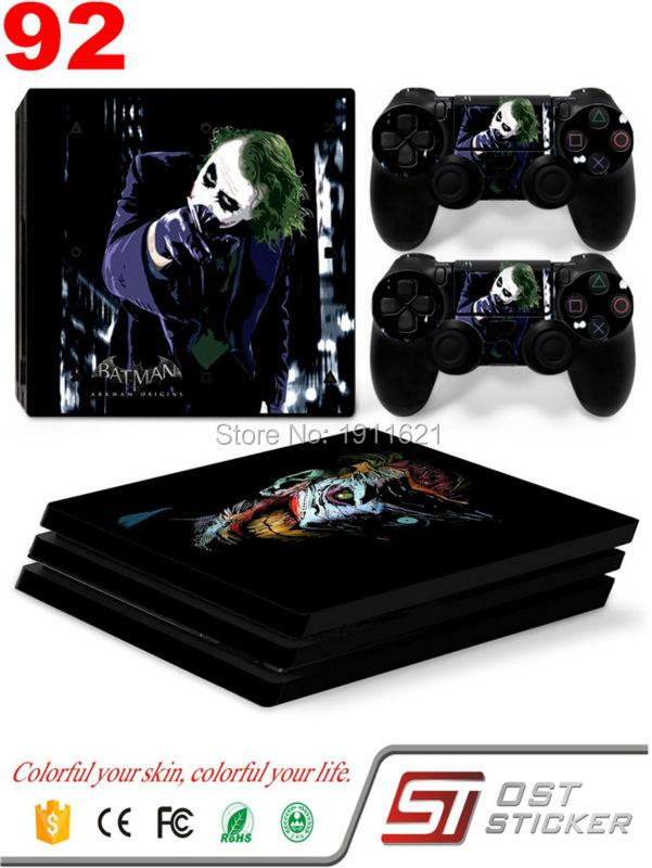 OSTSTICKER New Cover Protective Skin Removable Decal Vinyl Sticker For PS4 Pro Skin Stickers + 2Pcs Controller Stickers