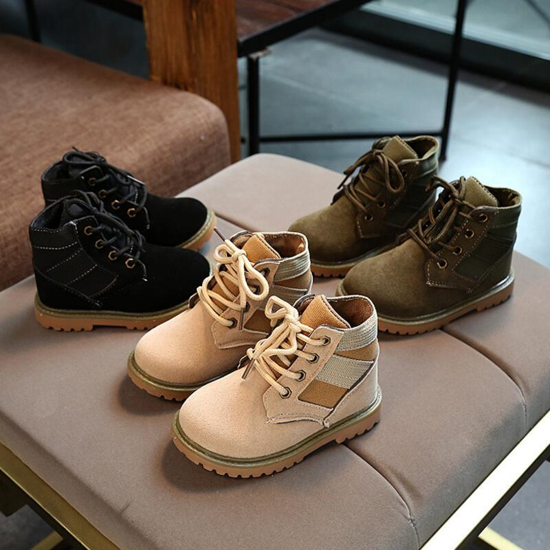 CLOWN DUCKS Children Boots Boys Snow Waterproof Shoes Kids Leather ...