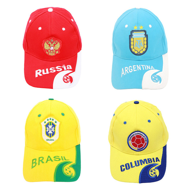 2018 Football baseball Cap letter print Russia England Brazil Spain France  Argentina Germany Fans Caps Hat-in Baseball Caps from Apparel Accessories  on ... 2a3a61dd6ff