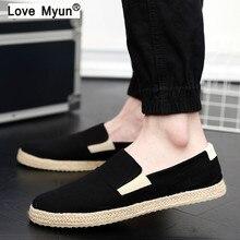 Canvas Shoes Men Casual Shoes Breathable Wear-resistant Shoes Comfortable Sneakers Lace-up Flat Shoes Zapatos Hombre 887