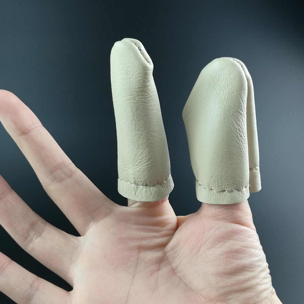 1 пара теплые безопасной кожи иглы для валяния ремеслам Вышивка инструмент для большого пальца указательный палец протектор наперсток Защиты Гвардии