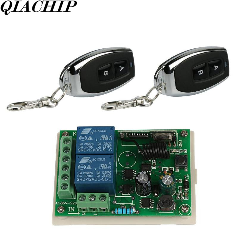 Universal Wireless 433Mhz Remote Control Switch DC 12V 2CH Receiver Module Light Lamp Controls RF Remote ControlTransmitter D 2ch 5v wireless remote control light switch receiver relay module 433mhz rf on off switches for lamp light motor gaage door