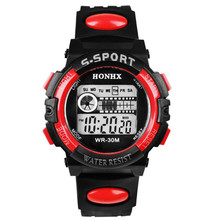 Waterproof LED Sports Electronic Children Watches Hombre Hombre 2017 Relogio Infantry Menino Montre Kids Clock Horloge Saat E17