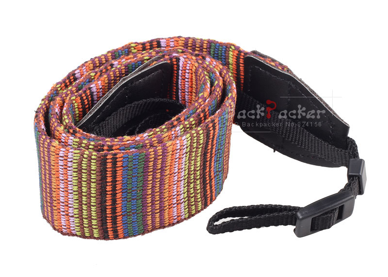 DSLR Camera Strap Vintage colored stripes Camera Shoulder Strap for Nikon for Canon for Sony