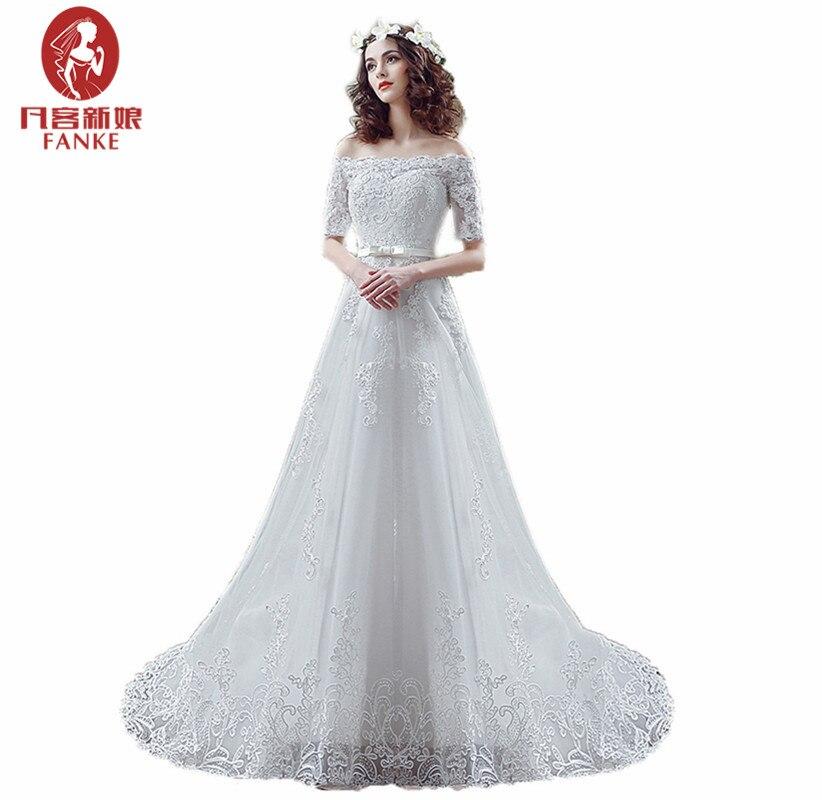 Simple Elegant Tulle A Line Scoop Neck Cap Sleeves Lace: Elegant White Ivory Wedding Dresses 2017 A Line Boat Neck