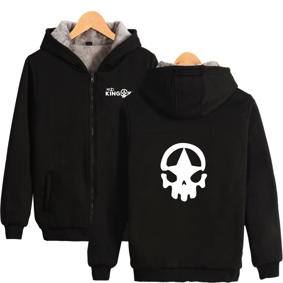 US $27 2 32% OFF Battle Royale Game H1Z1 King of the Kill H1Z1 Hoodies With  Zipper Men Women Casual Clothing Thick Warm Winter Hooded Sweatshirts-in