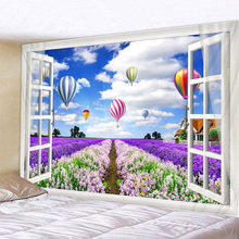 Blue Sky Garden Scenery Print Wall Tapestry Cheap Hippie Wall Hanging Art Carpet Bohemian Decorative Living Room Big Blanket