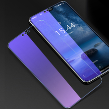 OriWood For Nokia X6 Full Cover 9H Anti Blue Tempered Glass Anti-blue Purple Light Screen Protector Protective Film