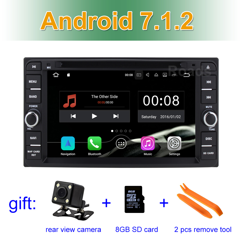 Android 7.1 Car DVD Video Player for Toyota Terios Old Corolla Camry Prado RAV4 Universal with Radio WiFi Bluetooth GPS