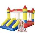 Yard dual slide bounce casa inflável salto castelo bouncer com ventilador