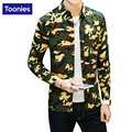 Men's Casual Camouflage Print Shirts Men Long Sleeve Slim Black Green Shirt Fashion Hip Hop Clothing Male Spring Fall 2017